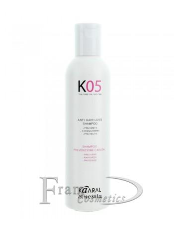 Шампунь против выпадения волос Kaaral K05