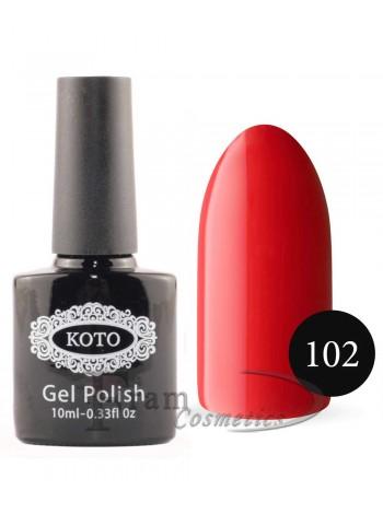 Однофазный гель лак Кoto 102 ализариновый красный