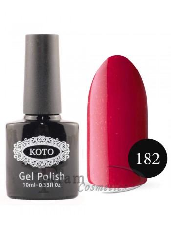 Однофазный гель лак Кoto 182 ярко красный