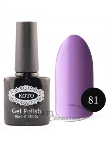 Однофазный гель лак Кoto 81 пурпурно горный