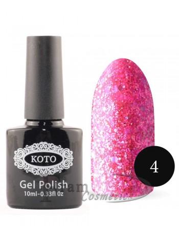 Гель лак для ногтей Кото 004 темно розовый