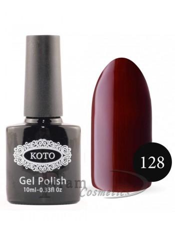 Гель лак для ногтей Кото 128 красно-коричневый