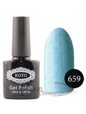 Песочный гель-лак KOTO 659 светло голубой