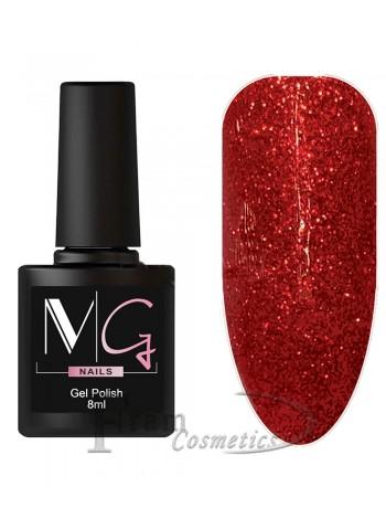Гель-лак MG 061 красный с глиттером
