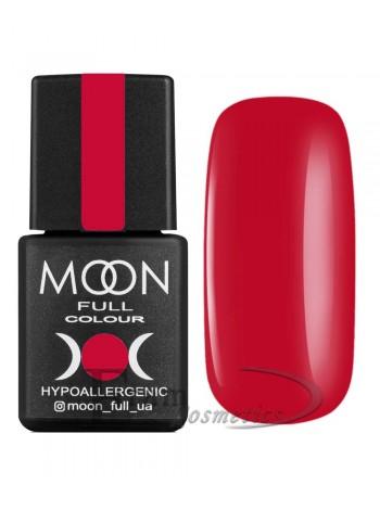 Гель-лак Moon №136 Color Gel polish глубокий красно-оранжевый
