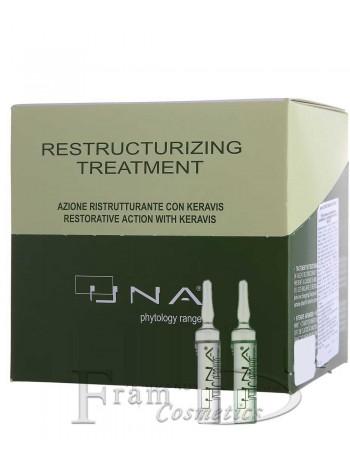 Комплекс для восстановления ослабленных и поврежденных волос Rolland UNA